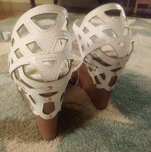 White gorgeous wedges.
